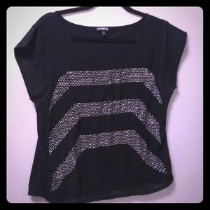 Silver studded top